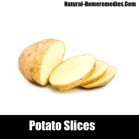 Leaving the potato slices on the cyst overnight is also ahome remedy
