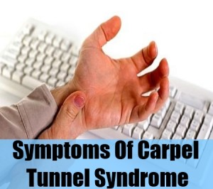 Symptoms Of Carpel Tunnel Syndrome